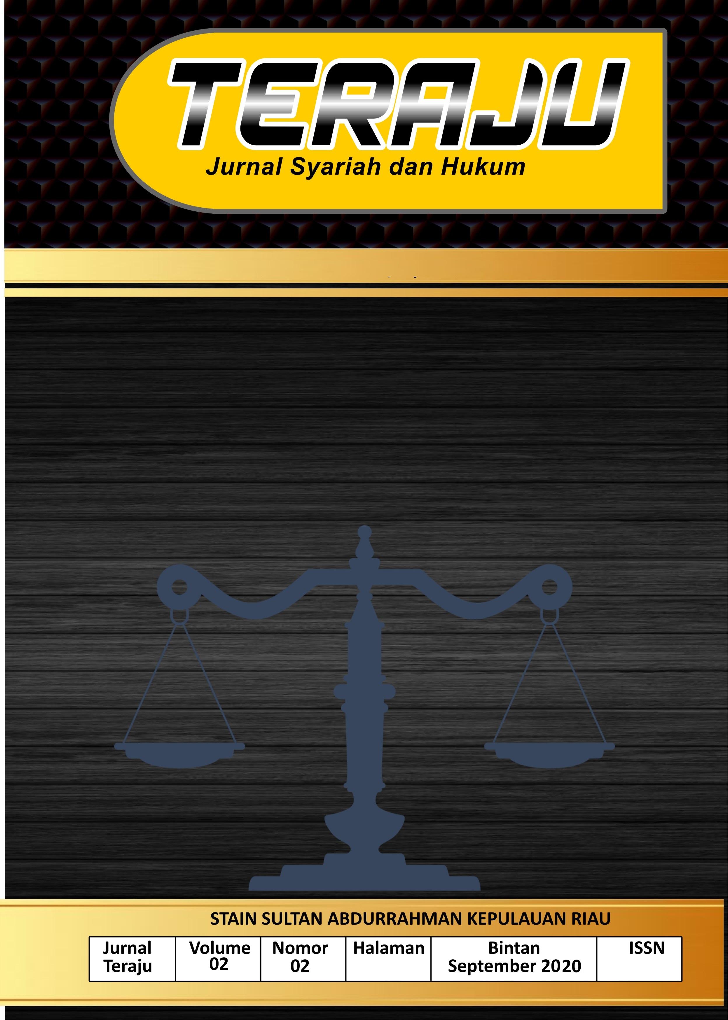 Teraju: Jurnal Syariah dan Hukum